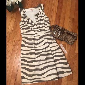 J. CREW: Paint Print Tailored Collar Dress!